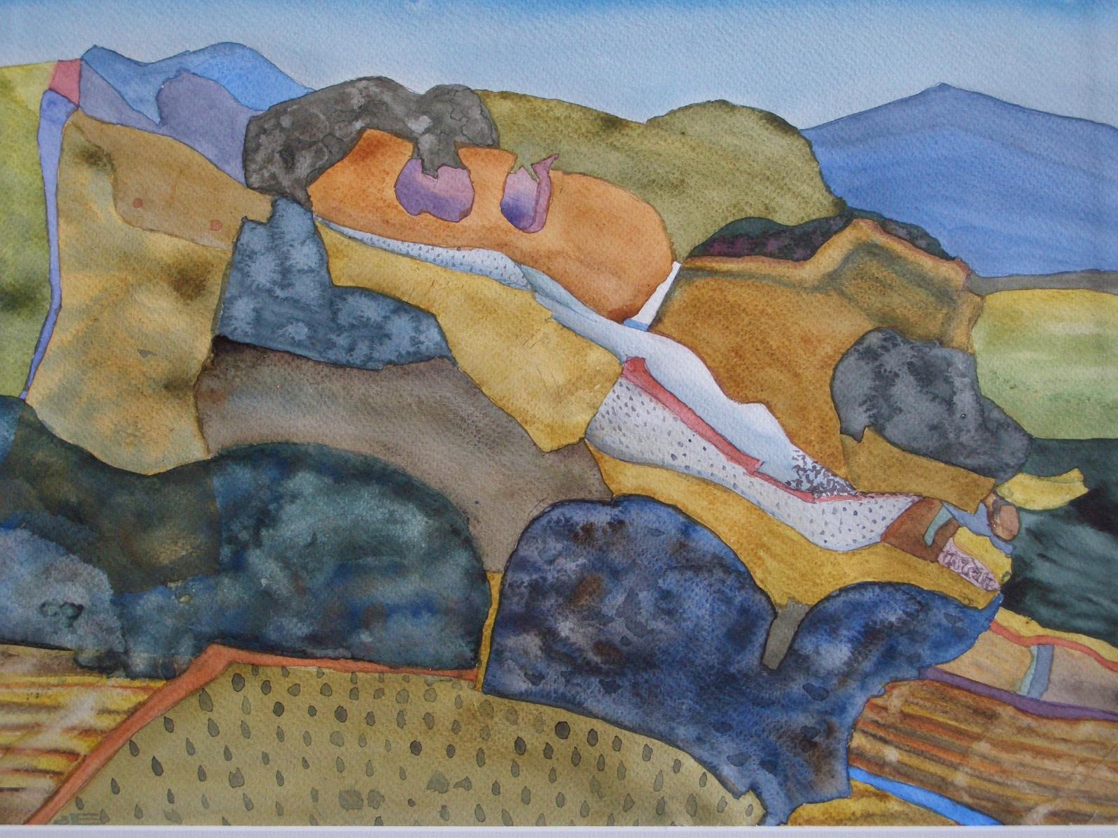 Nichtirdische Landschaft, 2009 Aquarell, 24 x 34 cm