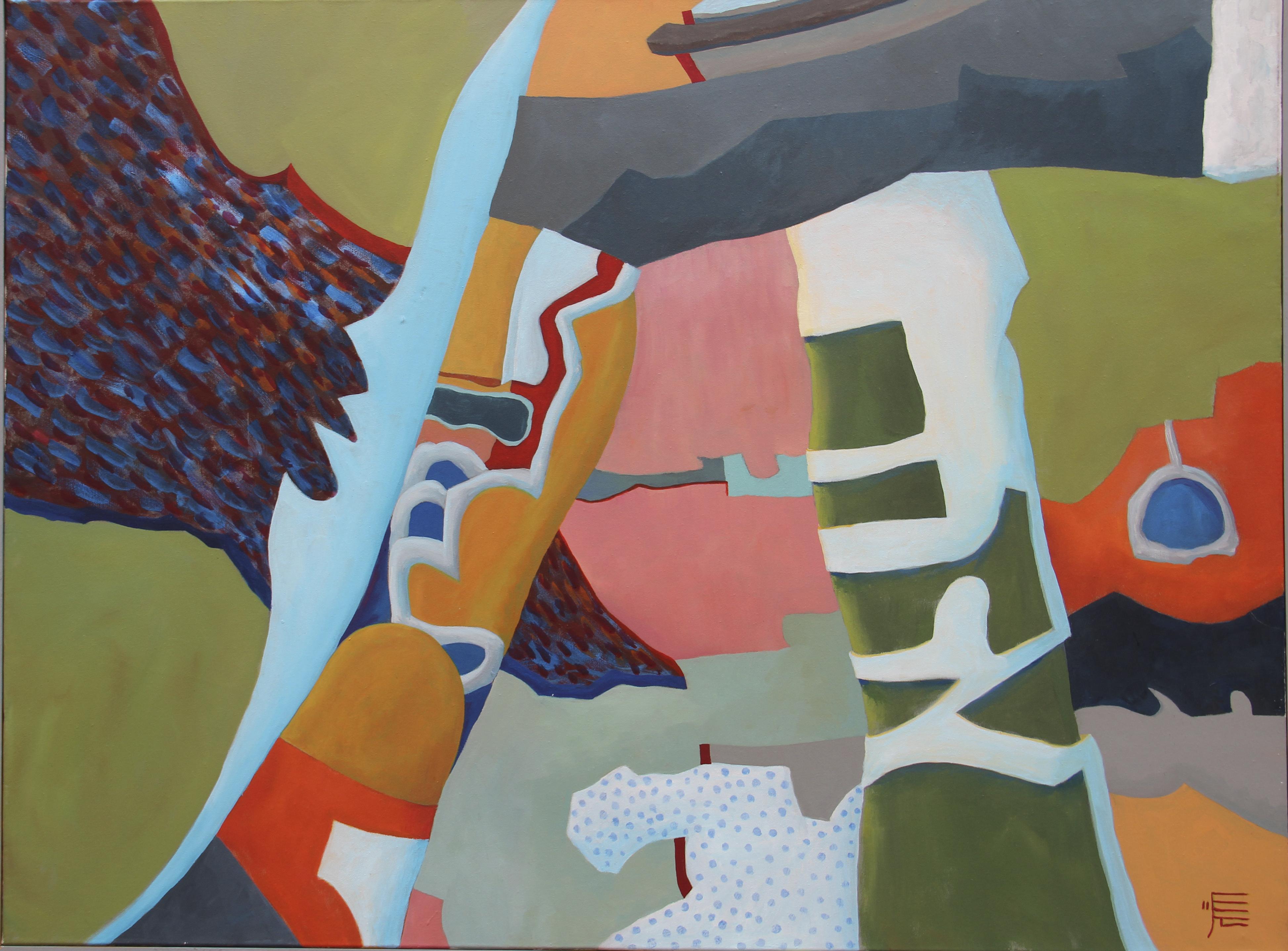 Geheimnisse in der dritten Schicht des Marmors, 2011, Acryl auf Leinwand, 100 x 130 cm